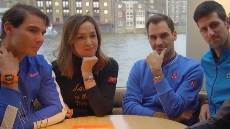 Treinador de Nadal diz que Federer só ainda joga por causa de Rafa e Djokovic
