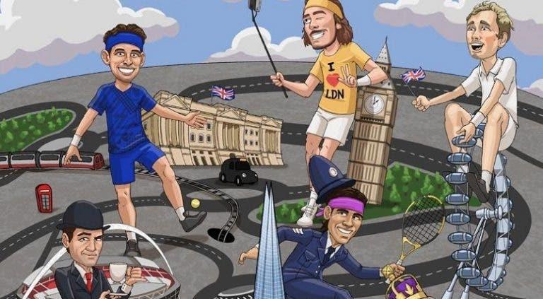 O 'cartoon' fantástico sobre os oito magníficos das ATP Finals