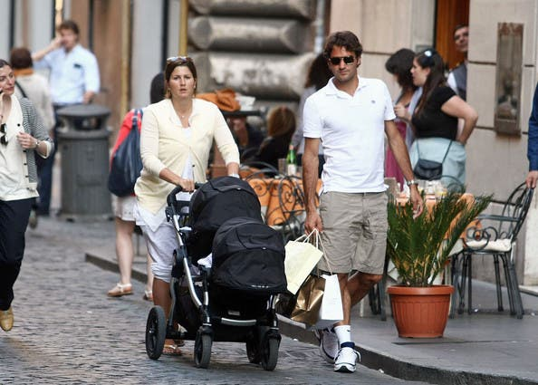 Federer+and+family+in+Rome