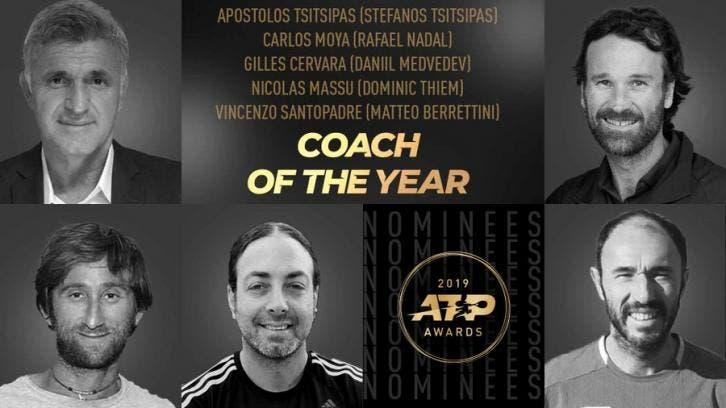 Conhecidos os cinco nomeados para treinador de 2019 no ATP Tour