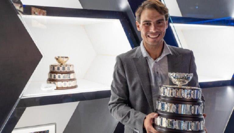Rafa Nadal já recebeu a nova Taça Davis no seu museu