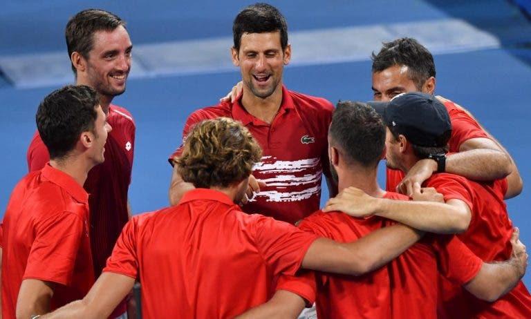 Djokovic radiante em representar o país: «Mostro as minhas emoções porque me importa jogar pela Sérvia»