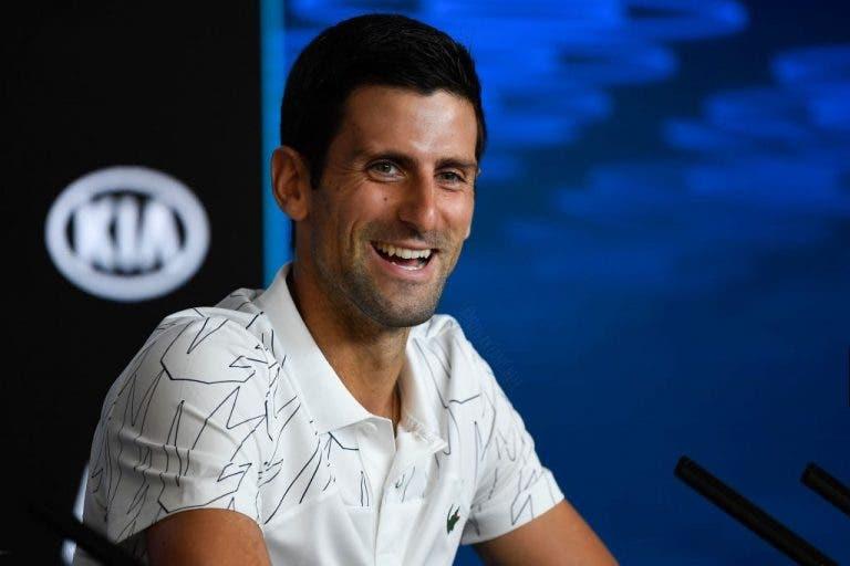 Top 600 sem duvidas: «Djokovic dá um bom exemplo como profissional»