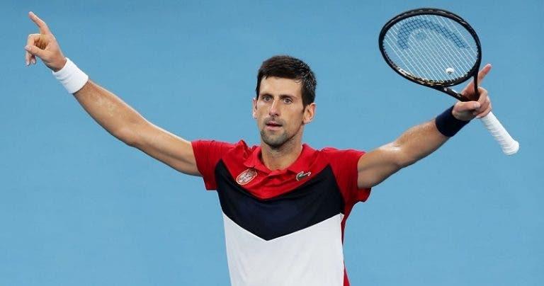 Djokovic derrota Medvedev e a Sérvia está na FINAL da ATP Cup