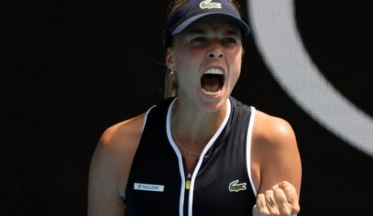 Kontaveit estreia-se nos 'quartos' de um Grand Slam após vitória épica
