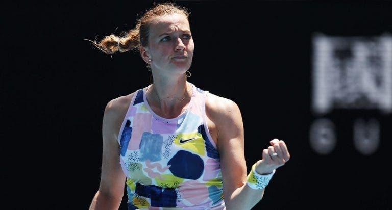 Kvitova ultrapassa Sakkari em batalha e é a primeira nos quartos-de-final