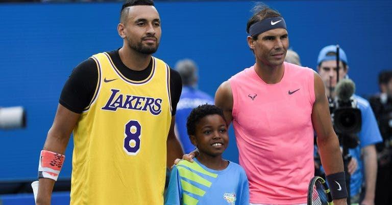 Kyrgios reage à desistência de Nadal do US Open: «Não fiquei surpreendido»