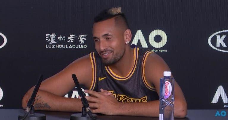 Kyrgios: «Sou melhor pessoa. Tenista não me interessa muito»