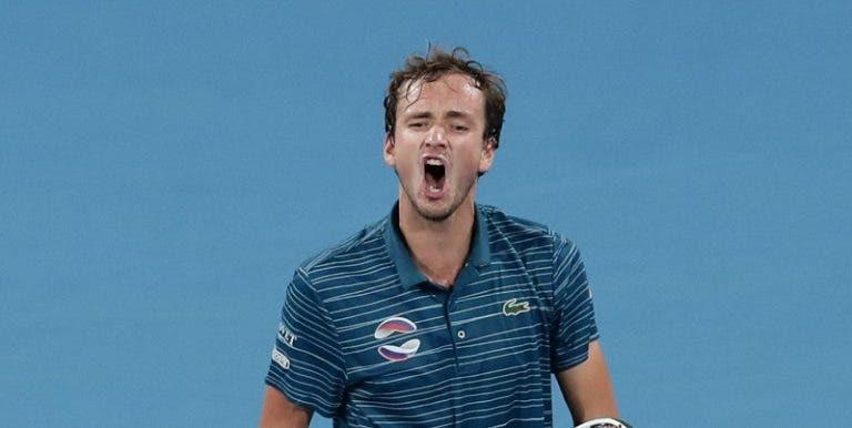 Daniil Medvedev coloca a Rússia nas meias-finais da ATP Cup