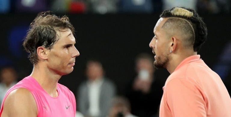 Nadal admite: «Gosto deste Kyrgios que jogou o Australian Open»