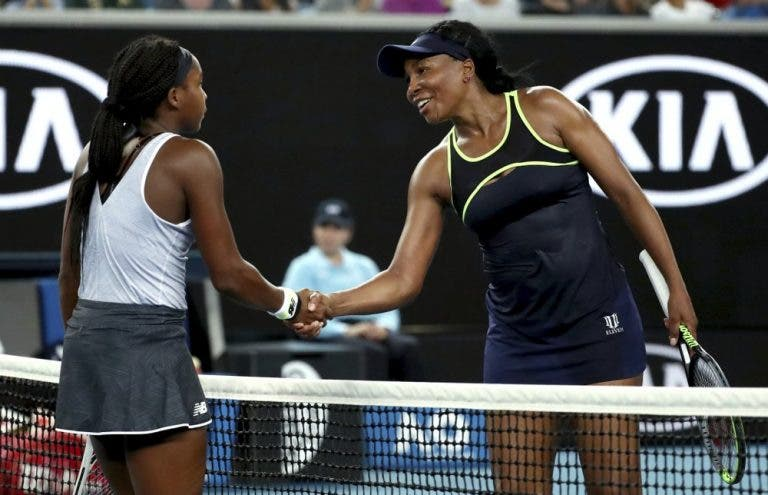Venus Williams elogia Cori Gauff: «A sua maturidade é incrível para a idade que tem»