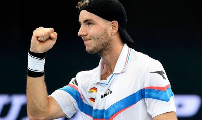 A peculiar reação de Struff ao descobrir que ia defrontar Djokovic no Australian Open