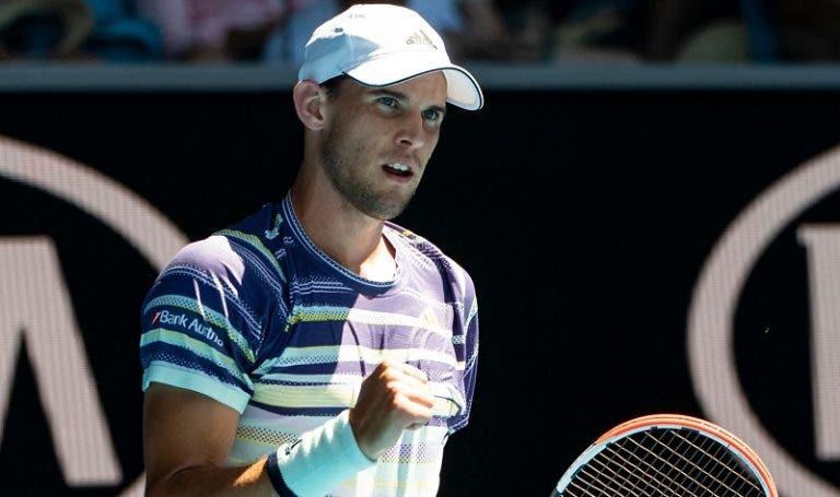 Thiem dá recital e arrasa Monfils rumo aos 'quartos' do Australian Open pela primeira vez
