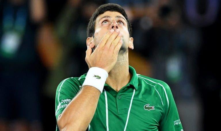 Ex-Benfica apoia Djokovic: «O que aconteceu não foi culpa dele»