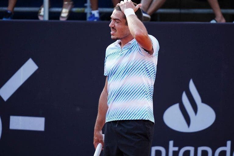 Domingues teve set point no segundo set, mas acabou eliminado no Rio
