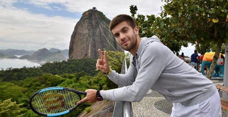 Borna Coric e Dominic Thiem já estão no Brasil