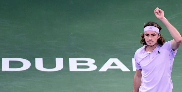 Tsitsipas soma sétima vitória seguida rumo às 'meias' no Dubai