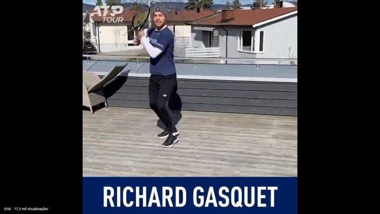 [VÍDEO] Thiem, Gasquet e companhia 'presentes' em imitação fabulosa