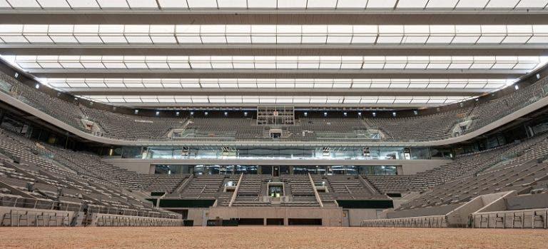 Roland Garros: o estádio Philipp Chatrier como nunca o viu