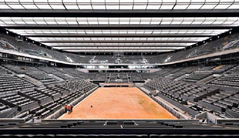 Pandemia não parou obras em Roland Garros, que terá 12 courts com iluminação