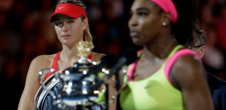 Fãs de Sharapova acusam Serena de ser imitadora e a russa aprova: «Gostei disso»
