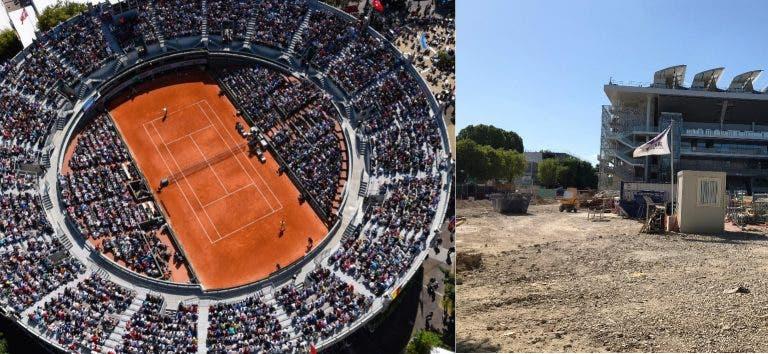 Court 1, a 'praça de touros' de Roland Garros, foi demolido
