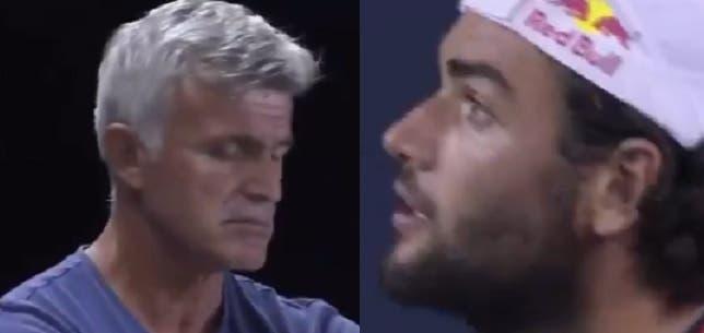 [VÍDEO] Berrettini também perdeu a paciência com o pai de Tsitsipas