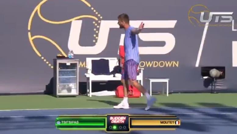 [VÍDEO] Jovem francês perdeu a cabeça com o árbitro no Ultimate Tennis Showdown
