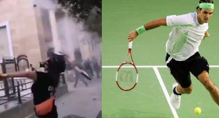 [VÍDEO] Raqueta 'de Federer' utilizada para arremessar bomba em confrontos no Líbano