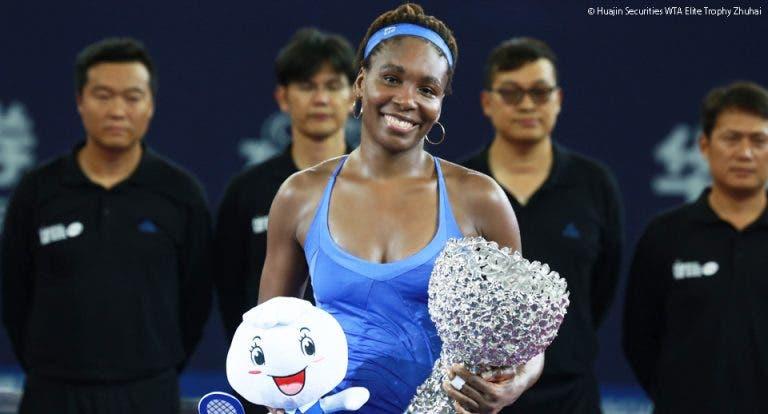 Venus Williams conquista título em Zhuhai e lugar no top-10