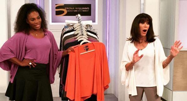 Serena Williams na televisão… a vender roupa da sua coleção