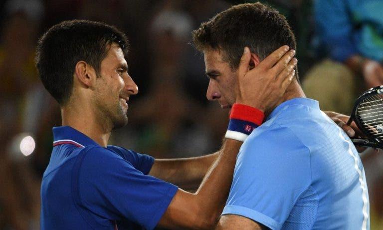 Djokovic já está a caminho de Tóquio e Del Potro provoca: «Desta vez tens a tua chance, amigo!»