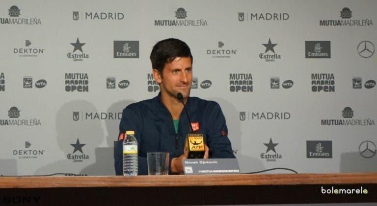 Djokovic responde a rumores sobre Agassi: «Gostava que fosse alguém que já esteve no meu lugar»