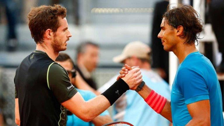 Nadal elogia Murray: «Ele ainda tem amor pelo jogo e paixão pelo ténis»
