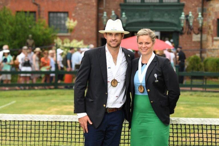 [FOTOS] Andy Roddick e Kim Clijsters entram no Tennis Hall of Fame