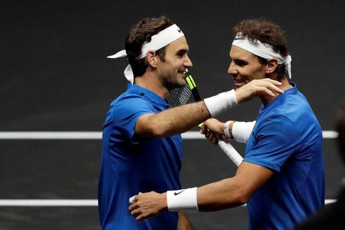 Foi há três anos: Federer e Nadal estiveram lado a lado pela primeira (e única) vez