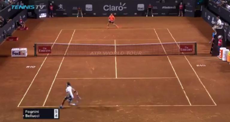 [VÍDEO] Fognini e Bellucci jogam um dos pontos do ANO no Rio de Janeiro