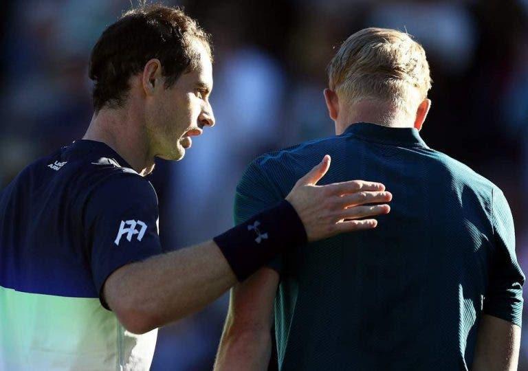 Andy Murray travado por Kyle Edmund em Eastbourne