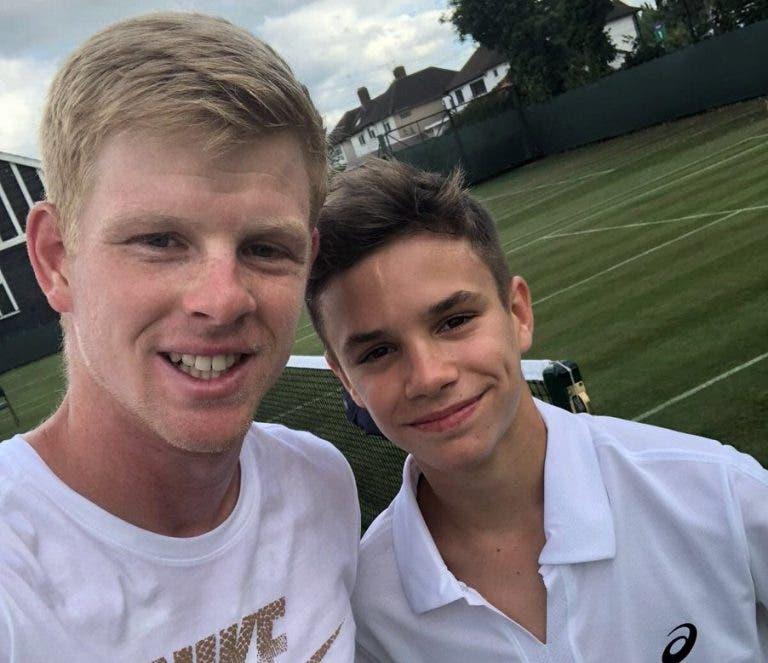 Edmund treinou com o filho de Beckham que leva o ténis muito a sério