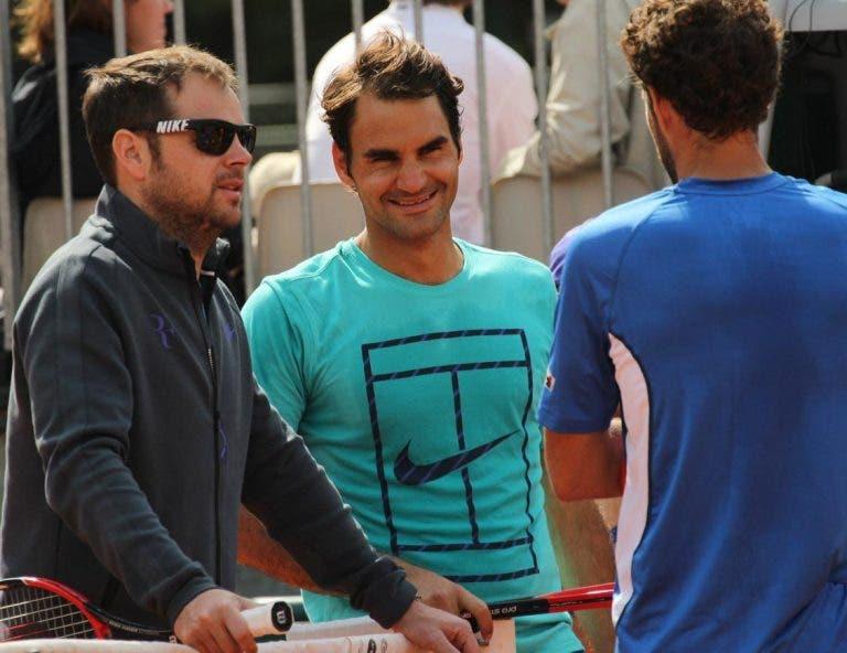Federer revela como escolhe os parceiros de treino