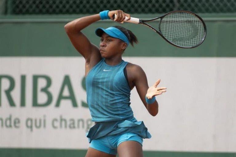 Cori Gauff é a mais jovem número um de juniores de sempre, com 14 anos e 4 meses