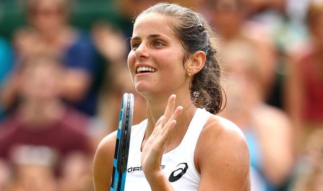 Goerges sorri e ganha lugar no elenco das 'meias' de Wimbledon