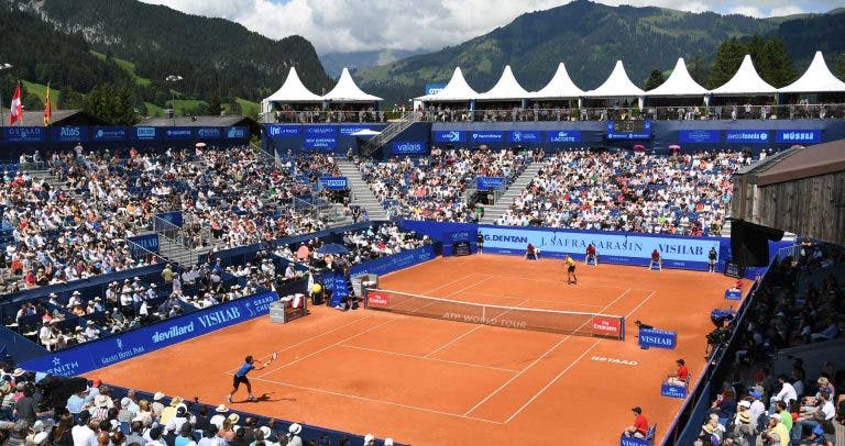 'Hawk Eye'. ATP Gstaad. Berrettini vs Lopez