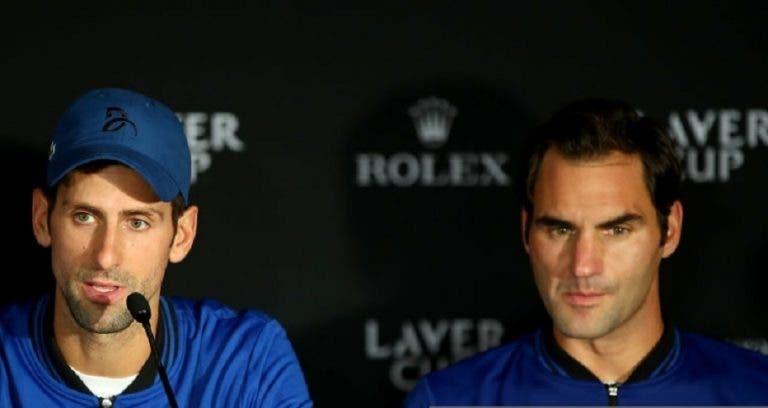EMPATADOS: Djokovic iguala o número de semanas de Federer como número um