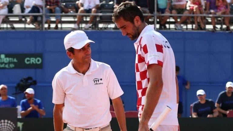 Com Ramos na cadeira, Cilic despacha Tiafoe e Croácia está às portas da final