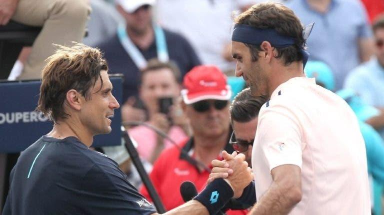 Ferrer elogia Federer: «Torna fácil o difícil, fez sentir-me mal durante toda a minha carreira»
