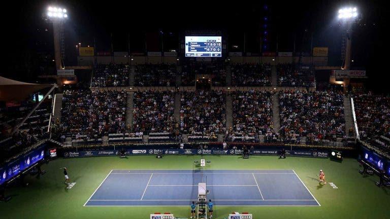 O ténis não pára: eis o quadro completo do ATP 500 do Dubai que conta com quase metade do top 30