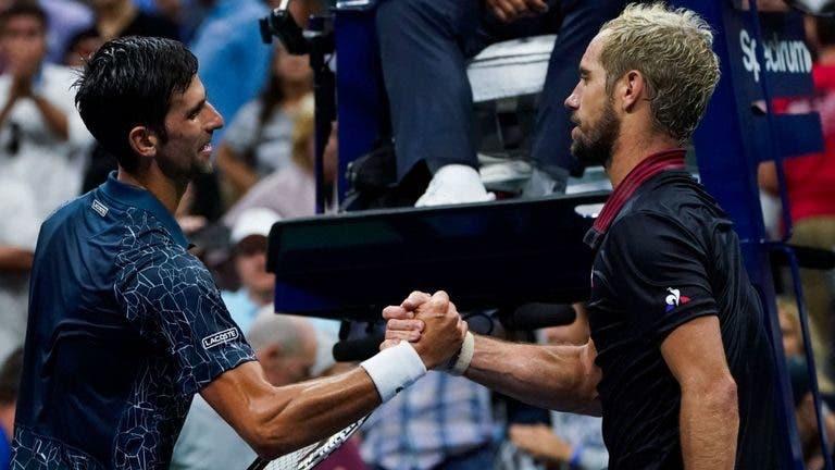 Gasquet sobre Djokovic: «É muito rápido e nunca falha»