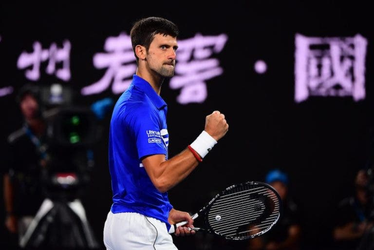 O match point que selou a demolidora vitória de Djokovic