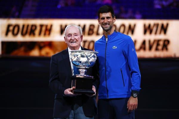 Rod Laver está pronto para dar as boas-vindas a Djokovic